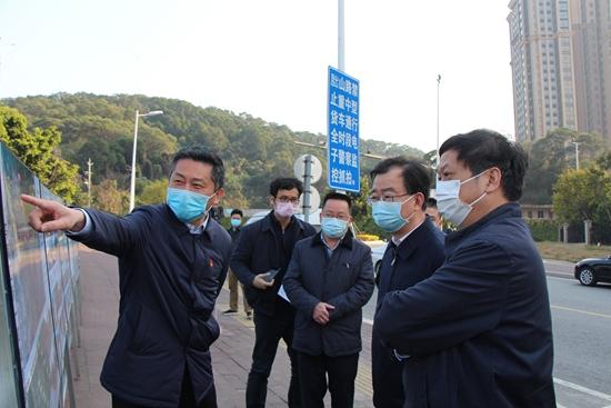 王宁尤猛军调研检查世遗大会城市品质提升工程